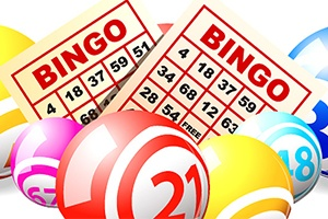 Crazy bingo hosted by drag queen Annie Balls)