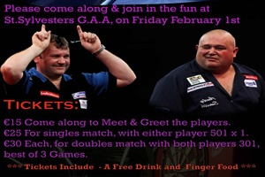 "Darts Exhibition with Terry ""The Bull"" Jenkins and Andy ""The Pieman"" Smith)"